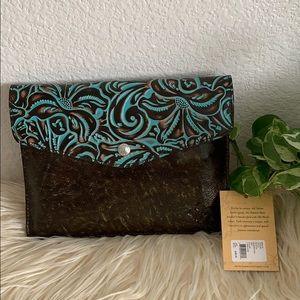Patricia Nash Wristlet pouch: for IPad or Handbag
